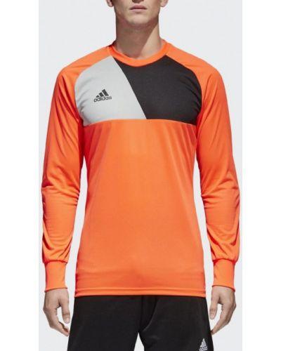 Спортивный лонгслив оранжевый Adidas