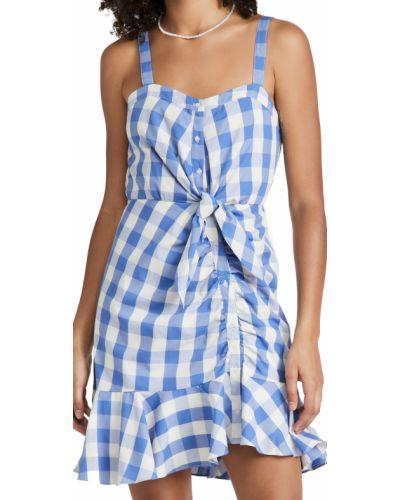Платье мини с декольте - синее Likely