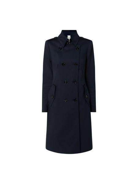 Niebieski płaszcz bawełniany zapinane na guziki Drykorn
