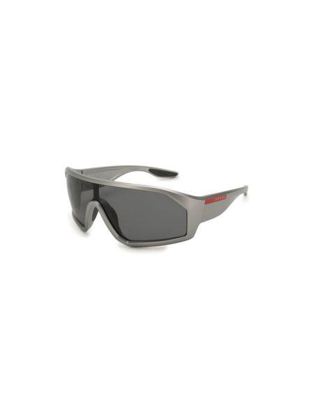 Муслиновые серые солнцезащитные очки Prada Linea Rossa