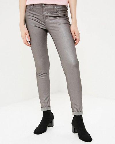 Серые брюки с завышенной талией Gaudi