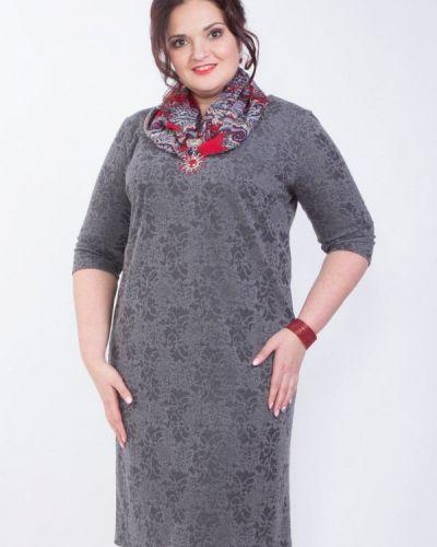 Серое деловое платье Wisell