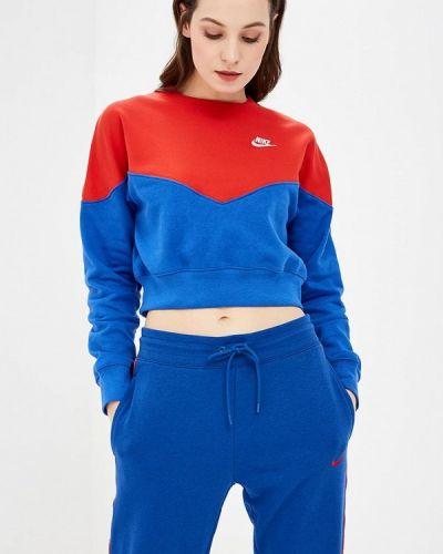 Толстовка синий Nike