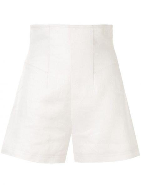 Хлопковые белые свободные шорты свободного кроя Alexis
