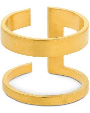 Żółty złoty pierścionek pozłacany Hsu Jewellery London