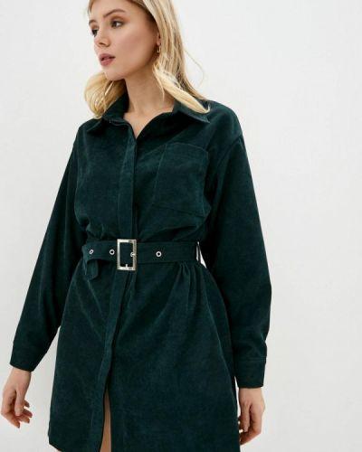 Зеленое платье-рубашка Lilove
