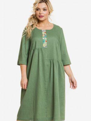 Зеленое весеннее платье Venusita