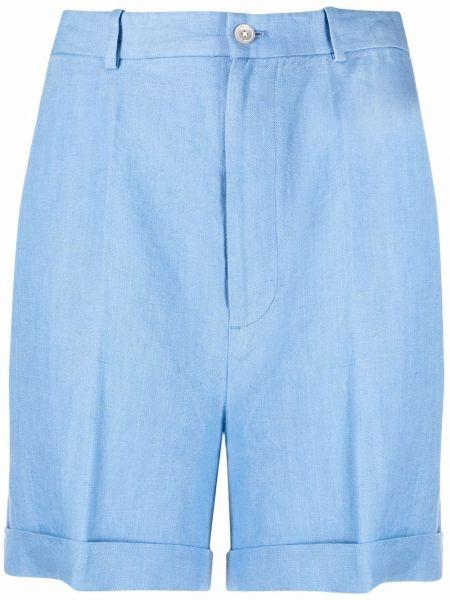 Niebieskie szorty z wysokim stanem z paskiem Polo Ralph Lauren