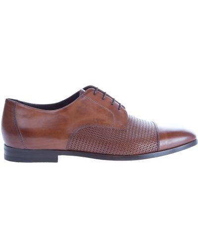 Туфли с перфорацией на шнуровке итальянские Canali