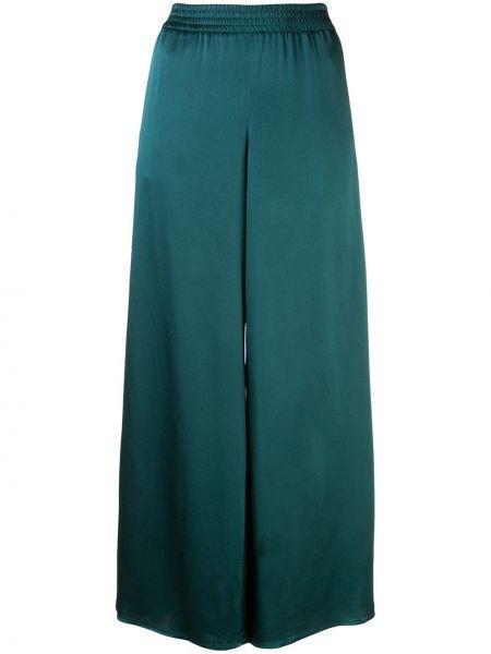 Зеленые свободные брюки с поясом свободного кроя из вискозы Sally Lapointe