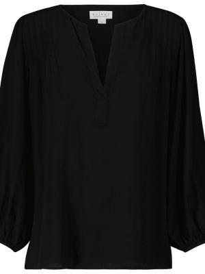 Блузка с V-образным вырезом - черная Velvet