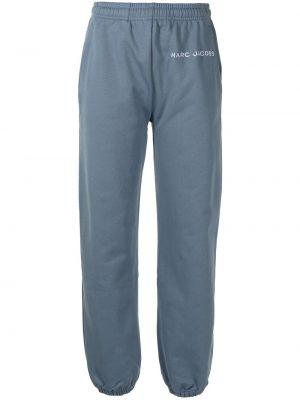 Хлопковые спортивные брюки - синие Marc Jacobs