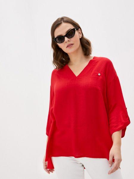 Блузка с длинным рукавом весенний красная Intikoma