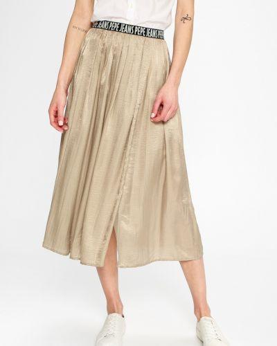 Джинсовая юбка с завышенной талией на резинке Pepe Jeans