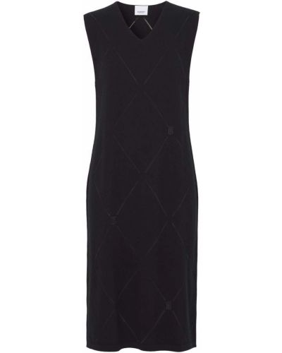 Шерстяное платье - черное Burberry