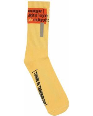 Żółte skarpety bawełniane Tdt - Tourne De Transmission