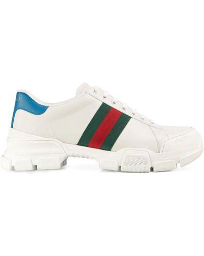 Białe trampki Gucci