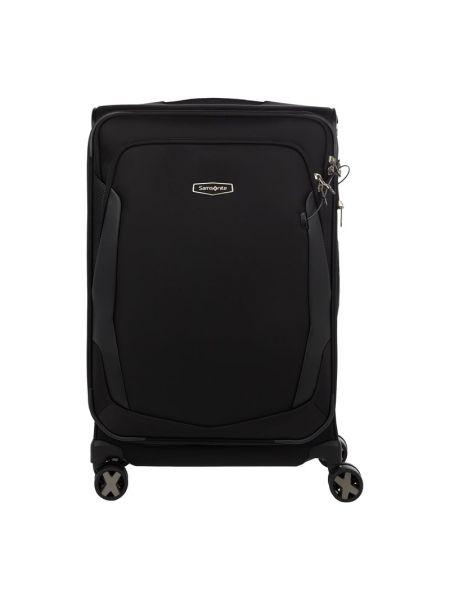 Nylon czarny walizka z kieszeniami z zamkiem błyskawicznym Samsonite