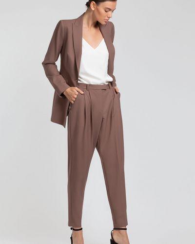 Свободные брюки из вискозы со складками Vassa&co