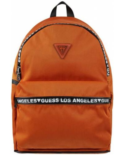 Pomarańczowy plecak na laptopa Guess