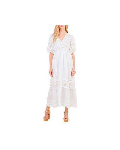 Платье макси с декольте с V-образным вырезом Luisa Spagnoli