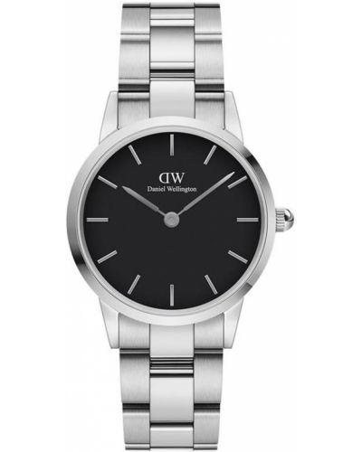 Zegarek srebrny - czarny Daniel Wellington