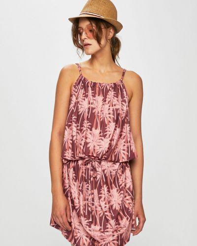 Фиолетовое свободное платье мини свободного кроя Femi Stories