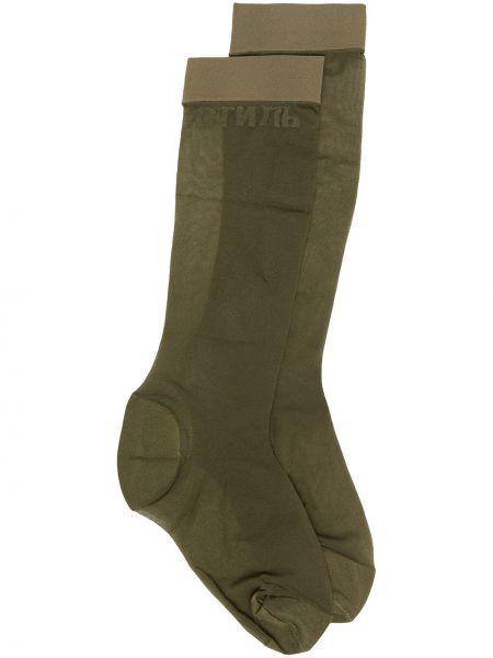 Зеленые носки Heron Preston