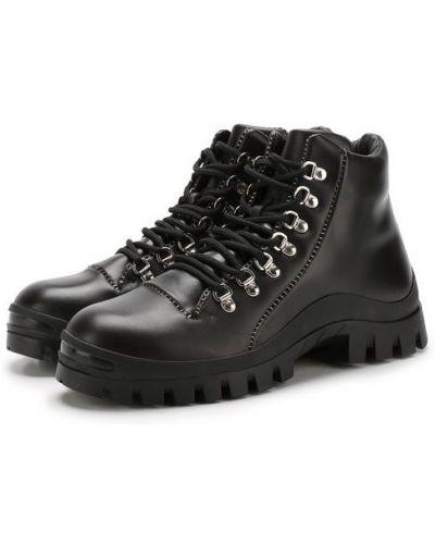 Ботинки на шнуровке кожаные Premiata