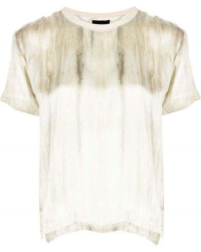 T-shirt krótki rękaw z printem z jedwabiu Atm Anthony Thomas Melillo