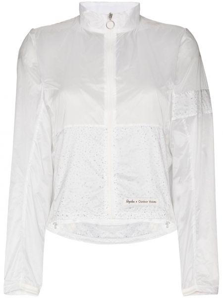 Спортивная белая нейлоновая спортивная куртка Rapha