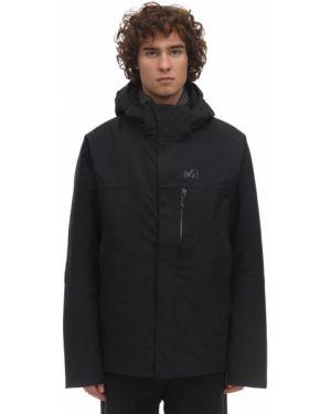 Czarna kurtka z kapturem z nylonu Millet