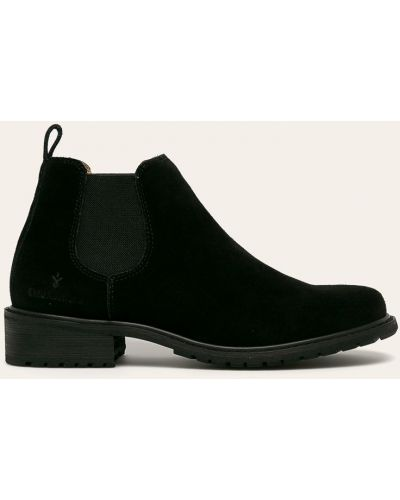 Ботинки на каблуке замшевые черные Emu Australia
