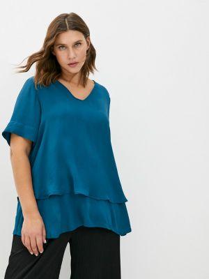 Блузка - синяя Zizzi