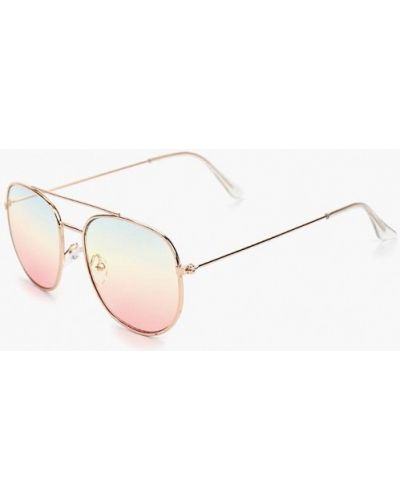 Солнцезащитные очки золотого цвета Topman