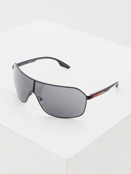 Черные солнцезащитные очки с завязками Prada Linea Rossa