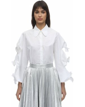 Biała koszula bawełniana Pushbutton