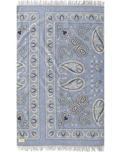 Miękki niebieski bawełna bandana prostokątny Basshu