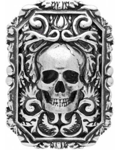 Broszka ze srebra srebro Alexander Mcqueen