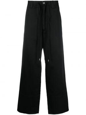 Czarne spodnie bawełniane Facetasm