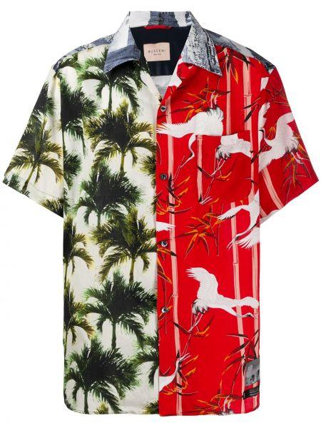 Koszula krótki rękaw bawełniana z printem Buscemi