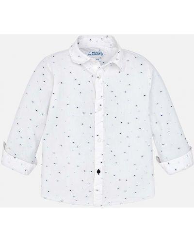 Рубашка с узором белая Mayoral