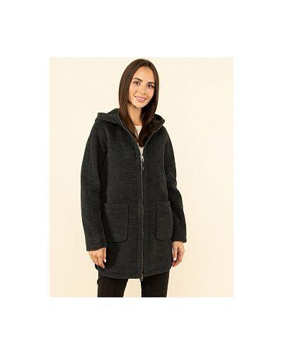 Черное драповое пальто каляев