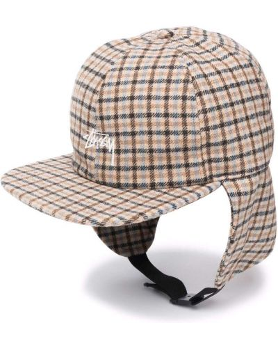 Шерстяная кепка - коричневая Stussy