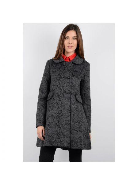Шерстяное пальто с воротником на пуговицах двубортное Molly Bracken