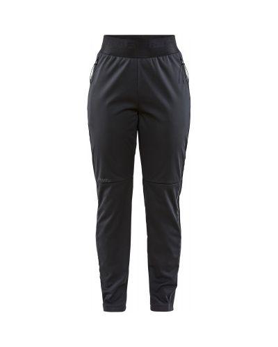 Компрессионные прямые черные спортивные брюки Craft
