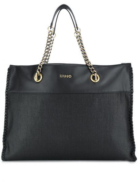 Кожаная сумка на цепочке шоппер Liu Jo