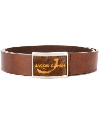 Ремень коричневый с логотипом Jacob Cohen