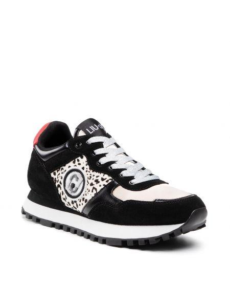 Buty sportowe skorzane - czarne Liu Jo