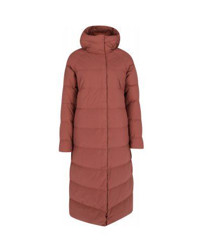 Пуховая красная длинная куртка на молнии Mountain Hardwear